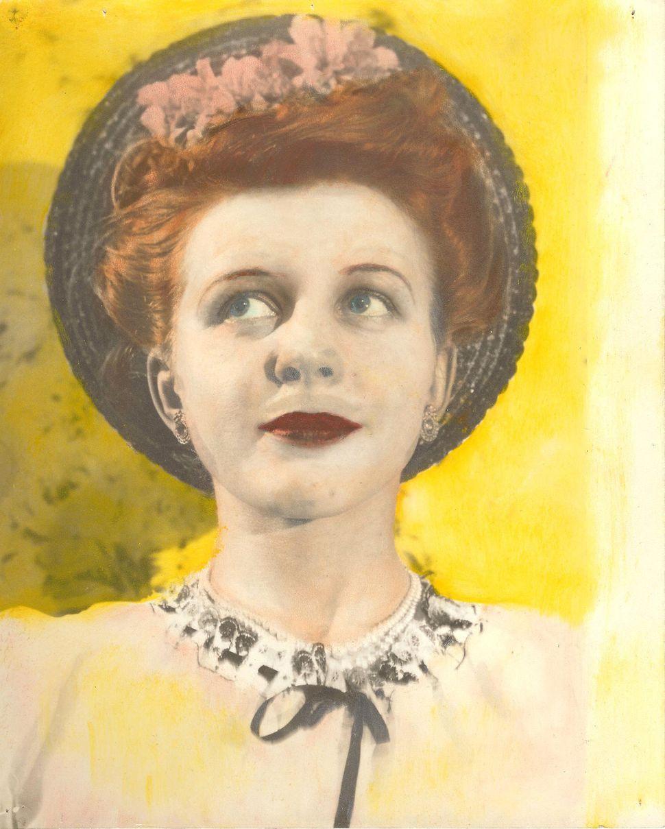 """Eugene Von Bruenchenhein, """"Untitled,"""" 1940s Hand-colored gelatin silver print, 10 x 8 inches."""