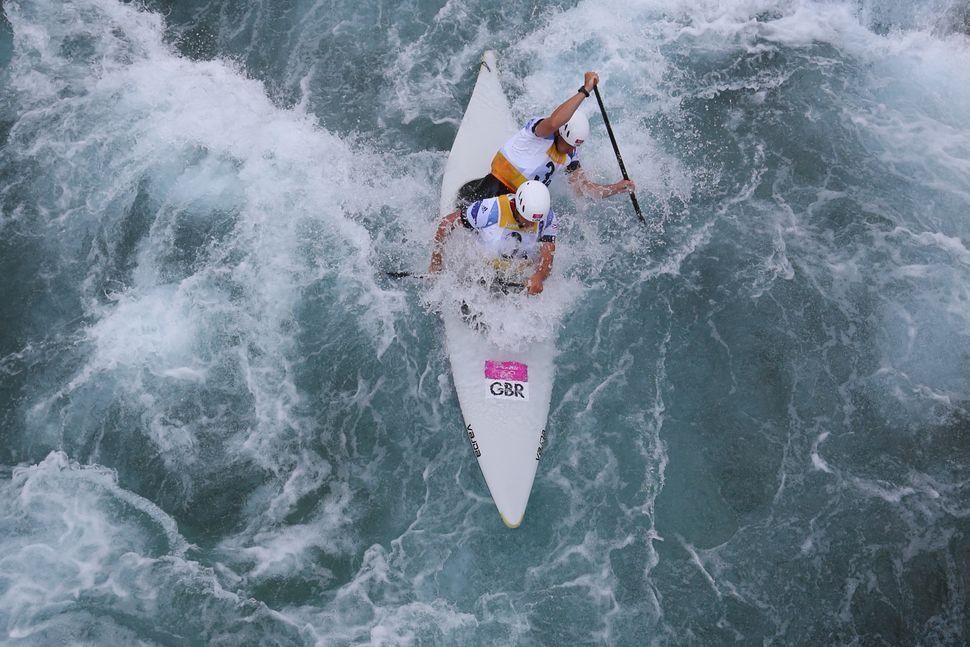 Great Britaincompetes in men's canoe double slalom atthe London 2012 Olympics.