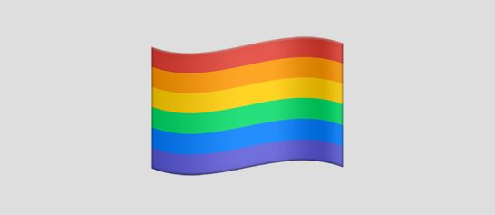 A rainbow flag is one of 100 new or redesigned emojis that will debut this fall.