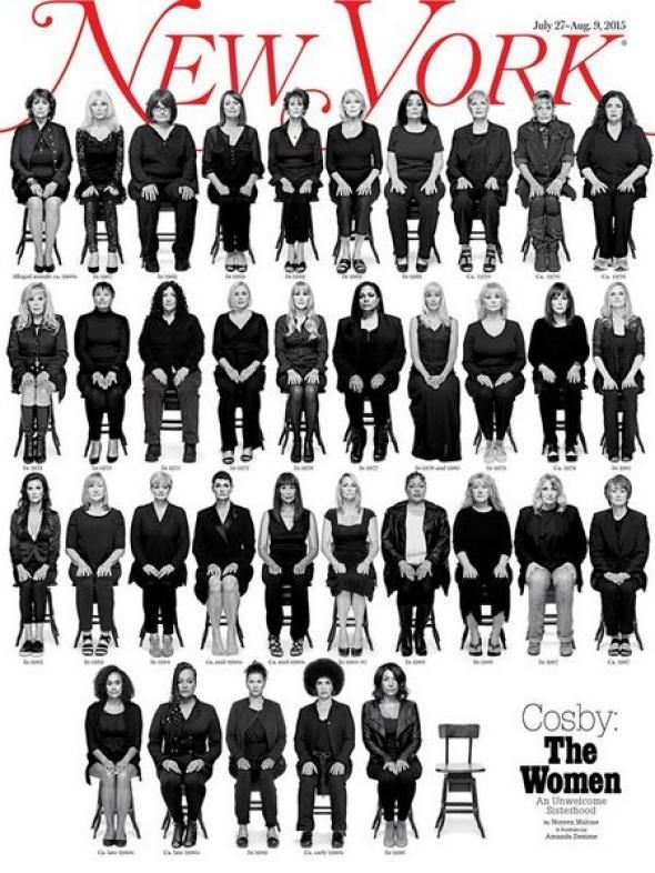 New York Magazine's July 2015 cover featured photos and names of many, but not all survivors of Cosby's abuse and actually li