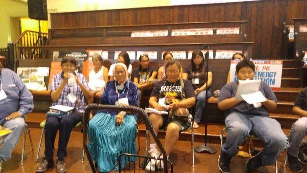 Several generations of Navajo earth defenders spoke