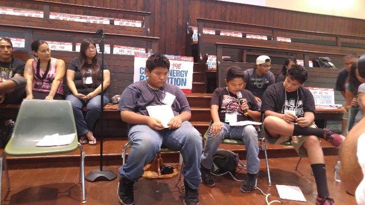 Daunte Bullbear, Jacey Brown, and Jeremiah Castillo