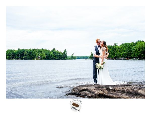 """""""Kaitlyn and Nick were married on Sunday in Muskoka, Ontario. They said their vows on their family island, and after they sai"""