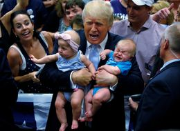 Trump Says He Loves Babies Moments Before Booting One From Rally