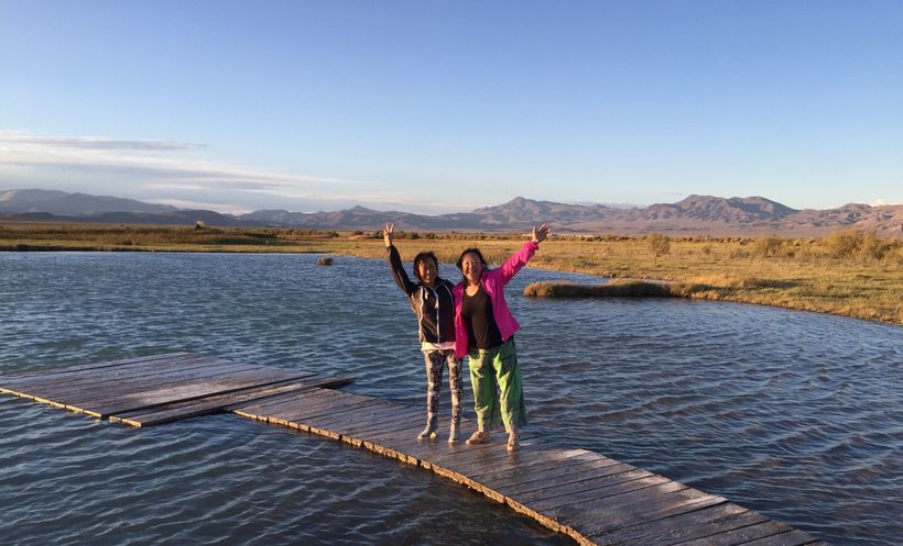 Ping and her sister Hong at Fly Ranch 2015