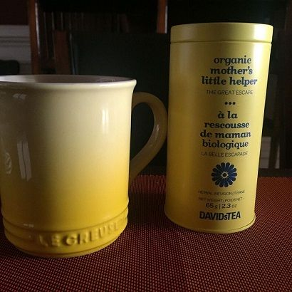 Self-Care: Enjoying one of my favorite tea's in my happy mug time forsome down time