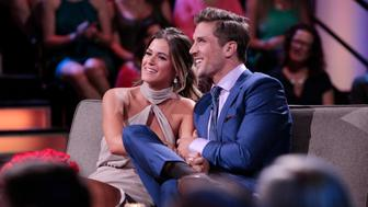 THE BACHELORETTE - 'After the Final Rose'- Emotions run high as JoJo sits down with Chris Harrison, live, to talk about her two final bachelors from this season - Jordan and Robby. She takes viewers back to those final days in exotic Phuket, Thailand, when she needed to make her life-changing decision. Both men return to sit with JoJo and discuss the shocking outcome of the show and their relationships. It's the unpredictable ending to JoJo's adventure to find true love on 'The Bachelorette: After the Final Rose,' MONDAY, AUGUST 1 (10:00-11:00 p.m. EDT). (Photo by Rick Rowell/ABC via Getty Images) JOJO FLETCHER, JORDAN RODGERS