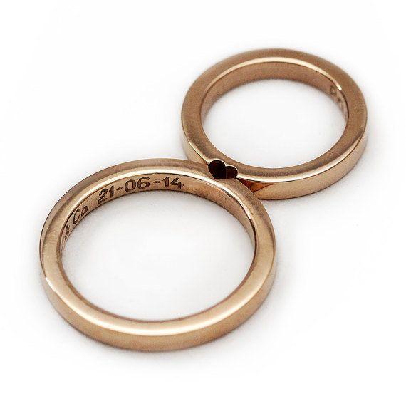 14k rose gold ring set,$960.