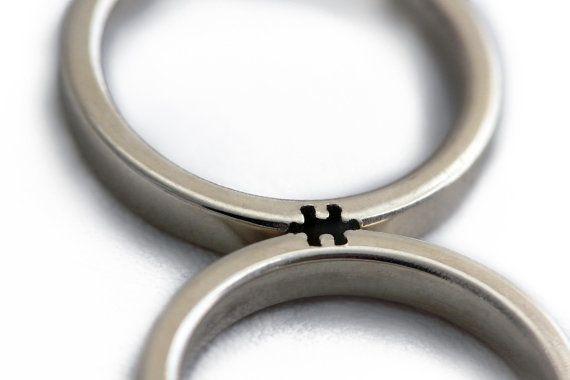 White gold ring set,$940.