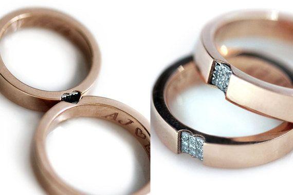 14k rose gold and diamond ring set,$1,600.