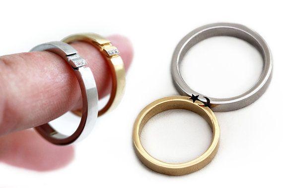 14k white gold, 14k yellow gold and diamond ring set,$1,420.
