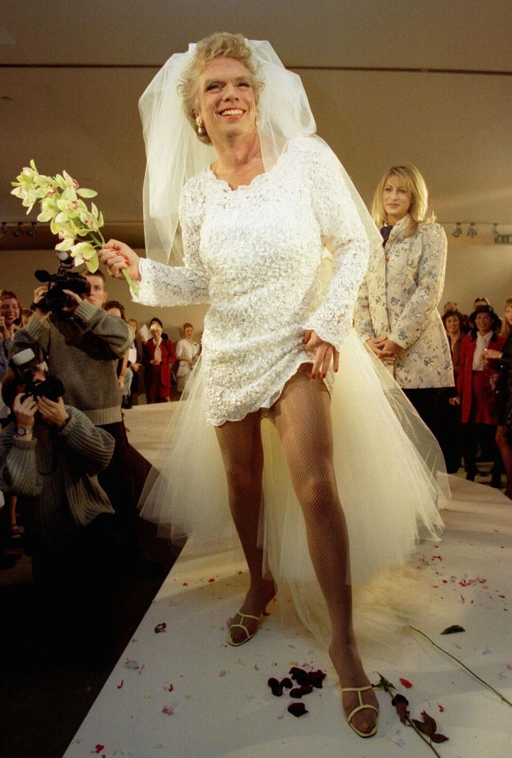This photo shows why richard branson regrets ever shaving for Wedding dresses branson mo