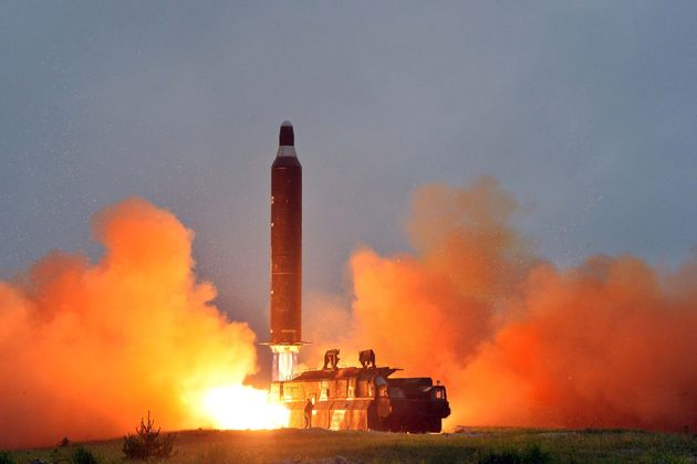 The main body of the missile landed in Japan's economic exclusion zone, according to a Japanese...