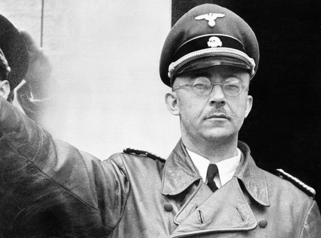 Heinrich Himmler, head of Nazi Germany's SS and one of the architects of the Holocaust, seen in...