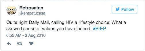 Daily Mail Calls HIV Prevention Drug PrEP A 'Lifestyle