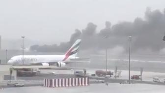 Plane crash lands in Dubai
