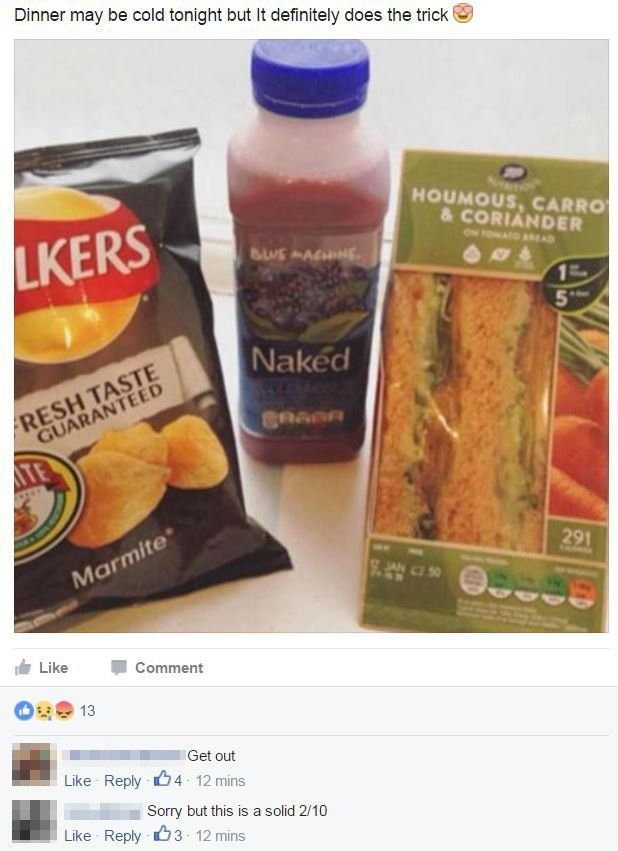 Meal Deal Talk Facebook Group Is Rating Members' Lunch Combo