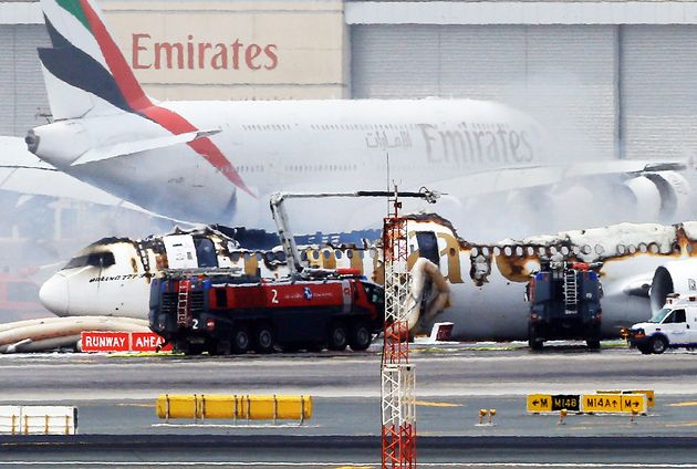 The aircraft's roof was blown off in a massive