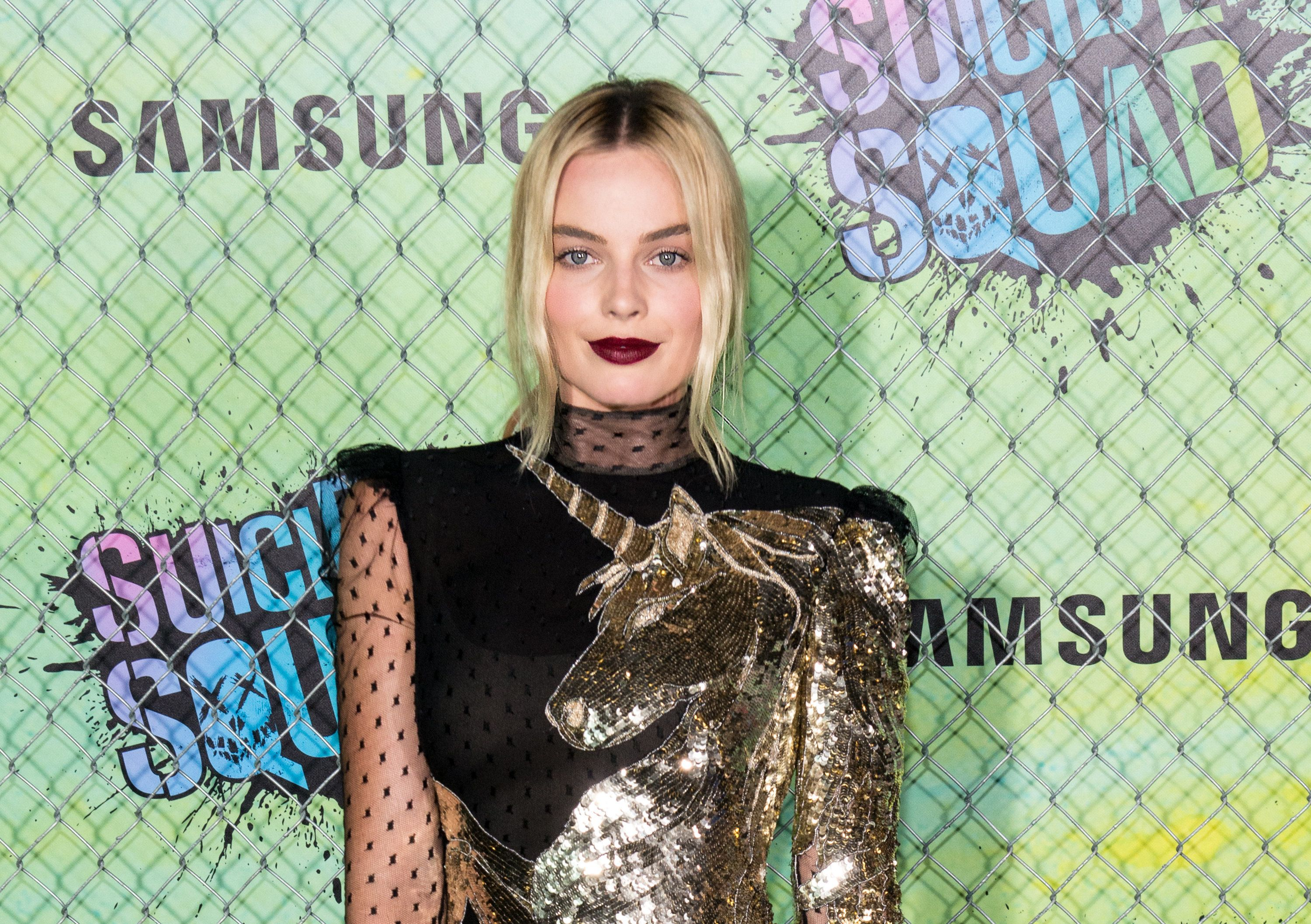 Margot Robbie Wore This Unicorn Dress Of Dreams To The 'Suicide Squad'