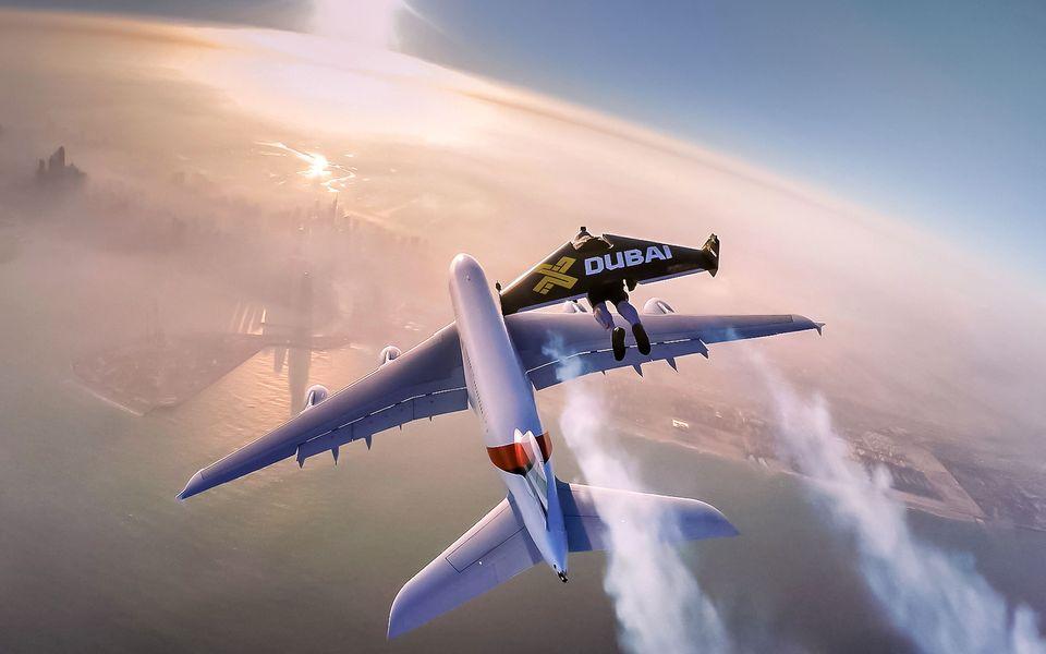 Jetman Pilots Set Wingsuit Altitude Record During Astonishing