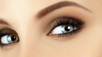 Make-up. Eyebrow Makeup. Eyes. Close up.
