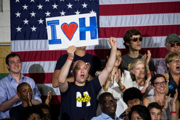 Meet the young, male voters who are flocking to Hillary Clinton.