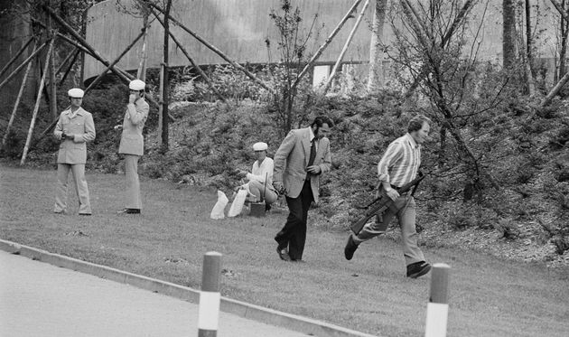 Black September kidnapped 11 members of the Israeli Olympic team in Munich in 1972. This image shows...