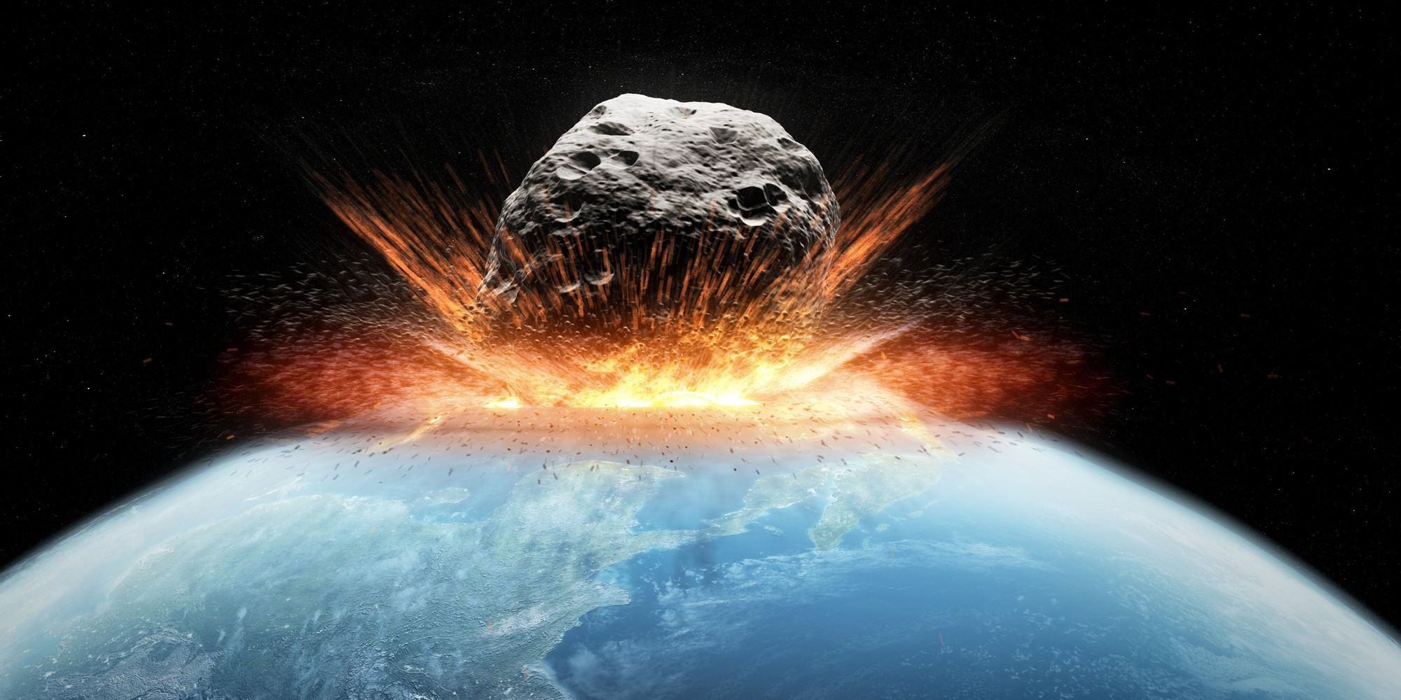 Ilustrasi Hantaman Asteroid ke Bumi