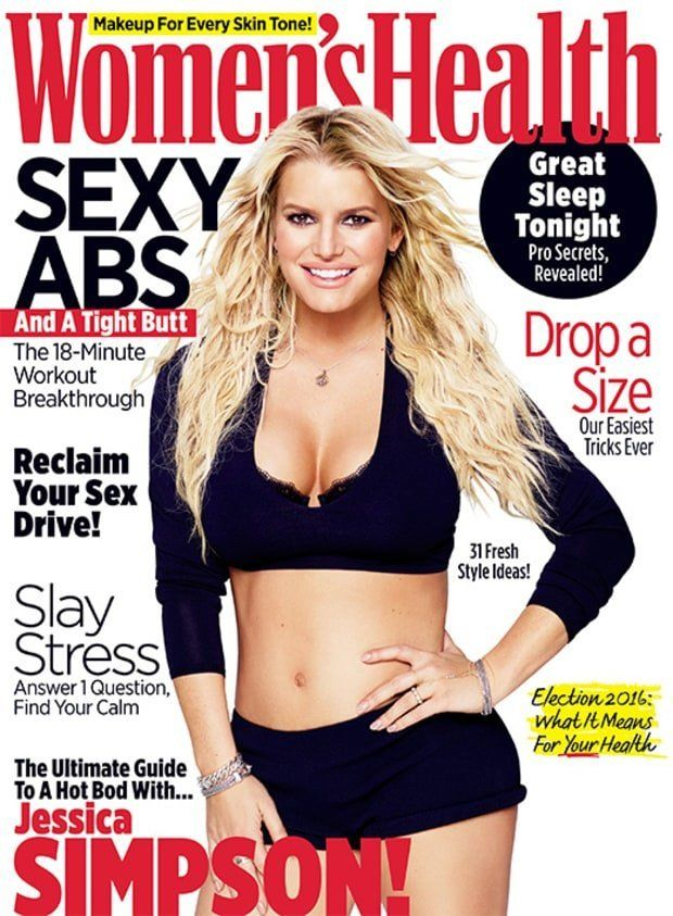 Jessica Simpson covers the September issue of Women's Health magazine.