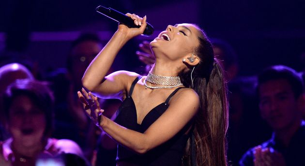 Ariana Grande Is So Committed To Her Ponytail, She Cut A Hole In Her Hat For