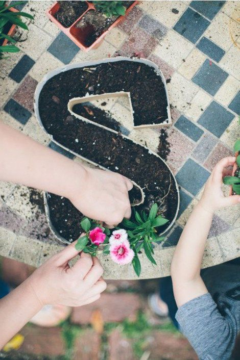 Make your garden truly yours with the mark of your initial.