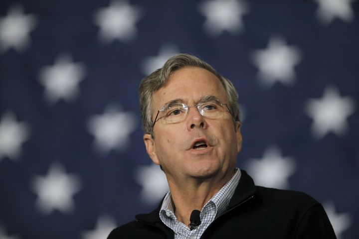Former Florida Gov. Jeb Bush speaks on the campaign trail in February 2016.