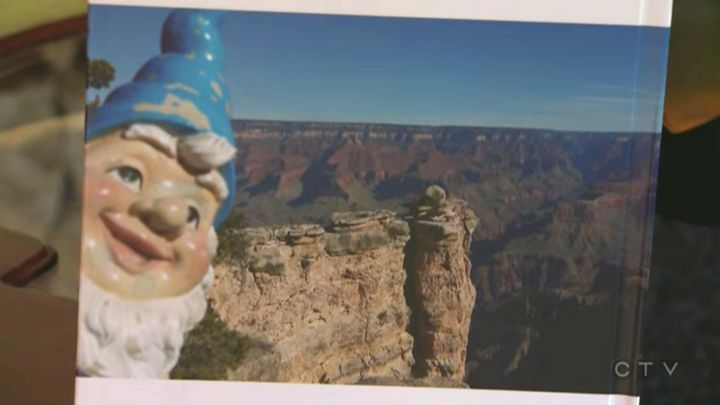 Leopold in front of the Grand Canyon.