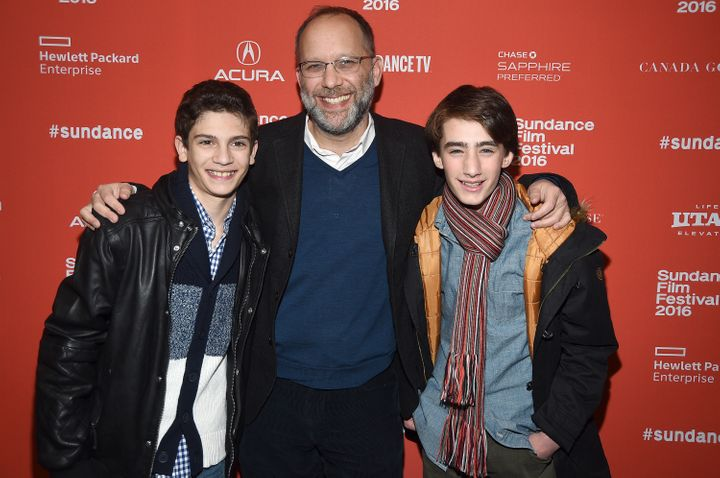 """Theo Taplitz, Ira Sachs and Michael Barbieri attend the January 2016 """"Little Men"""" premiere at the Sundance Film Festival."""