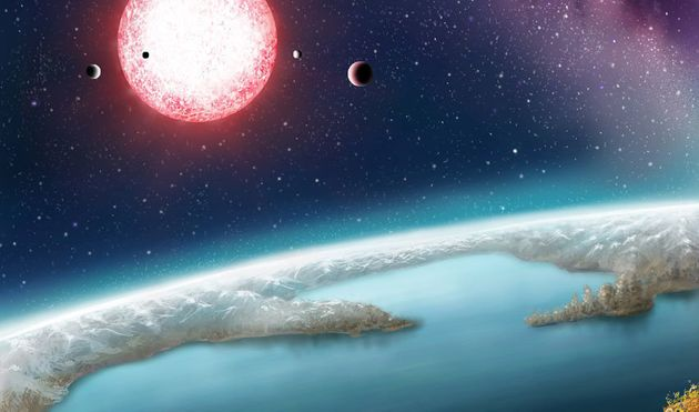 Artist's rendering of Kepler-186f, one of more than 200 exoplanets that researchers say lie within the...
