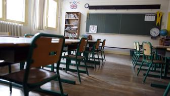 This picture taken on September 1, 2014 shows an empty classroom in a primary school of the ninth arrondissement of Paris, on the eve of the first day of the school year. AFP PHOTO / THOMAS SAMSON        (Photo credit should read THOMAS SAMSON/AFP/Getty Images)