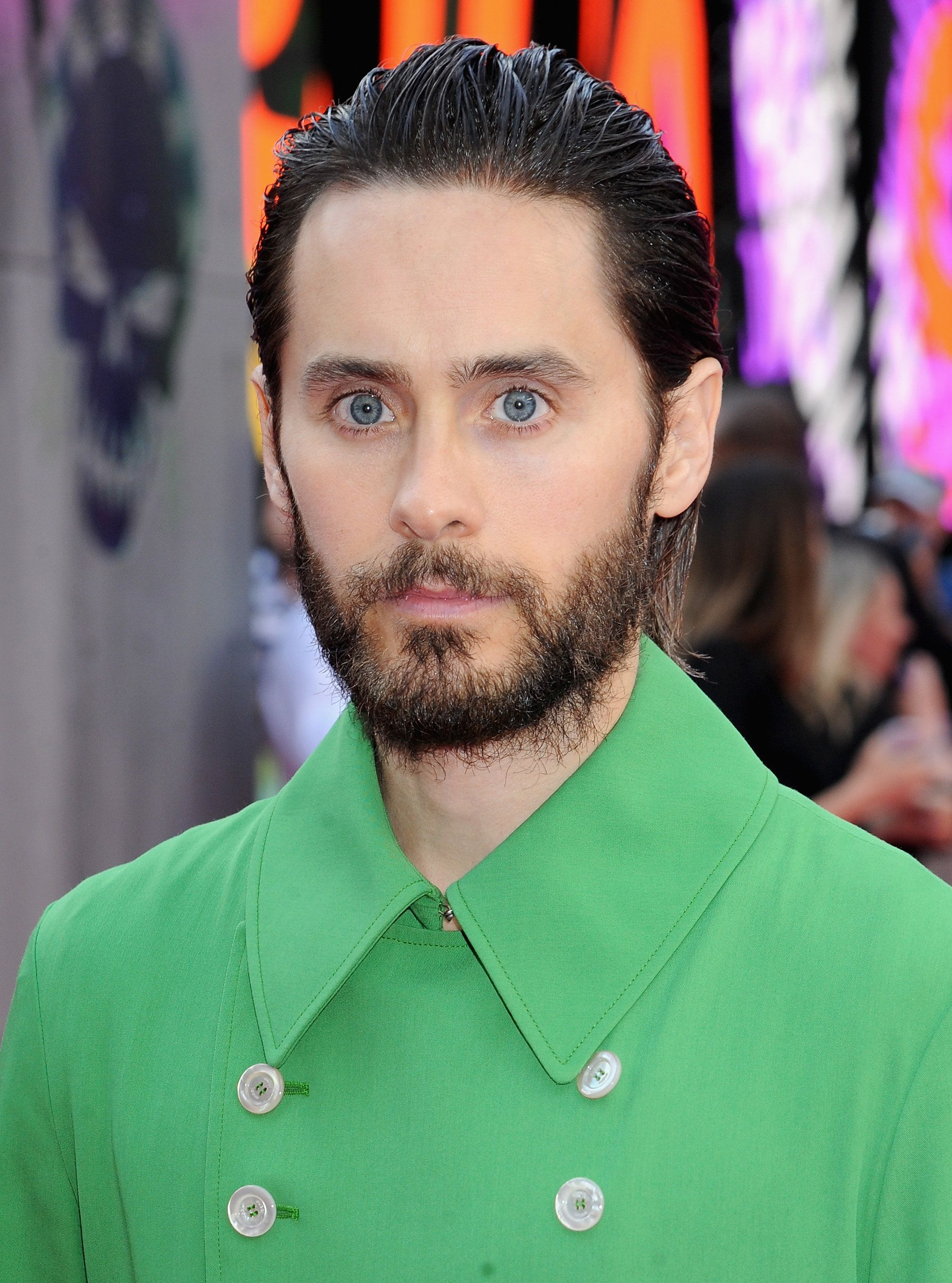 LONDON, ENGLAND - AUGUST 03:  Jared Leto attends the European Premiere of 'Suicide Squad' at Odeon Leicester Square on August 3, 2016 in London, England.  (Photo by Dave J Hogan/Getty Images)