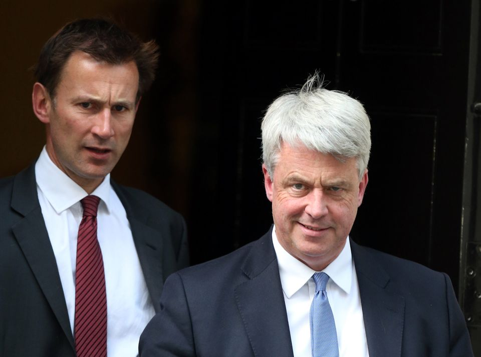 Andrew Lansley, and his successor as Health Secretary, Jeremy