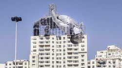 Enormous Athletes Loom Over Rio In Awe-Inspiring Art