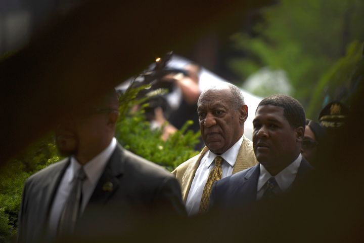 Actor and comedian Bill Cosby departs after a Habeas Corpus hearing on sexual assault charges at the Montgomery County Courthouse in Norristown, Pennsylvania, on July 7.