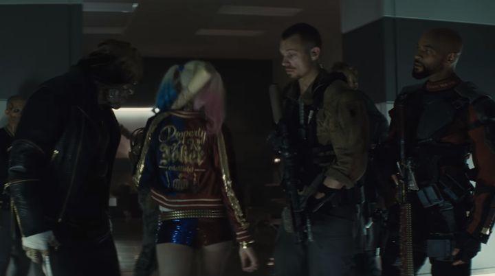 "Margot Robbie in the ""Suicide Squad"" TV trailer."