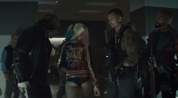 "Margot Robbie in the""Suicide Squad"" Comic-Con trailer."