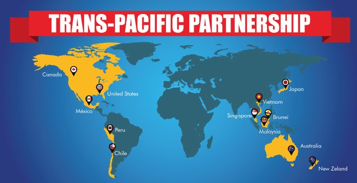 Countries Involved in TPP
