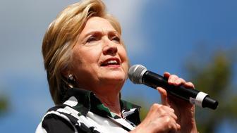 Democratic presidential nominee Hillary Clinton speaks at Fort Hayes Metropolitan Education Center in Columbus, Ohio, U.S., July 31, 2016.  REUTERS/Aaron P. Bernstein