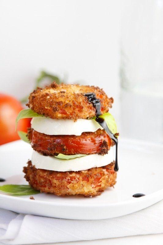 "<strong>Get the <a href=""http://www.bellalimento.com/2013/07/01/fried-caprese-salad/"" target=""_blank"">Fried Caprese Salad rec"