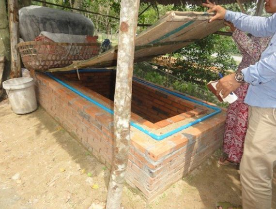 A new ZECC ready to keep vegetables cool in Cambodia.