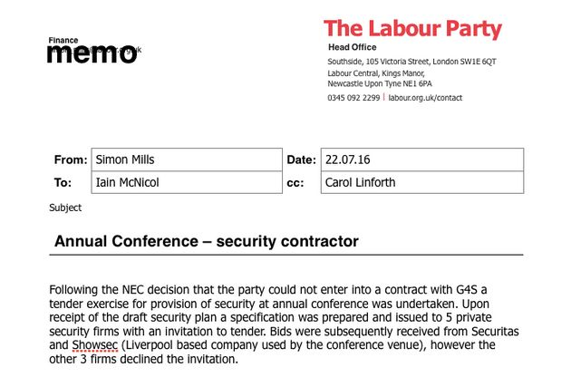 Labour Party Conference Could Be Cancelled After Security Firm