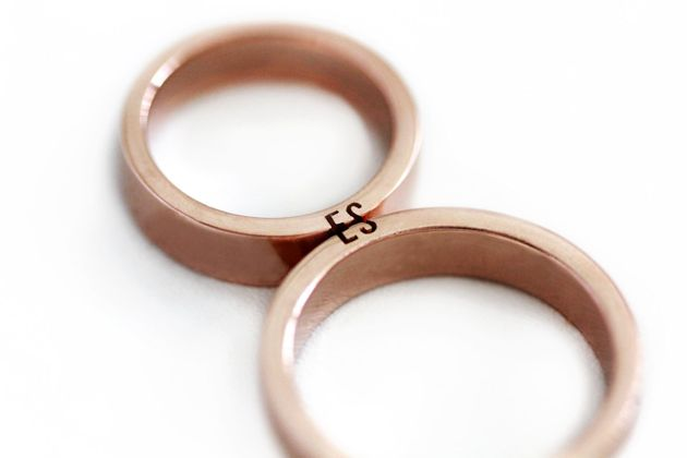 These Etsy Wedding Rings Complete A 'Puzzle' When You Put Them