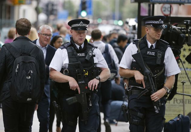Armed police have been patrolling central London streets since the