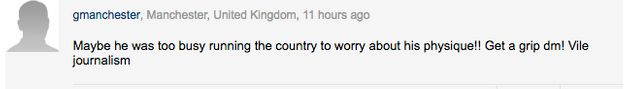 David Cameron Is Being Body Shamed On Holiday But Daily Mail Readers Aren't Having A Bar Of